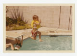 Ronnie Shepard dives into pool, South Whittier, California